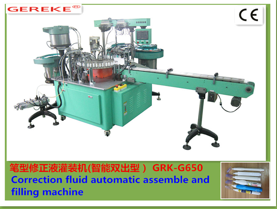 Correction Fluid (pen type) Automatic Assembly and Filling Machine