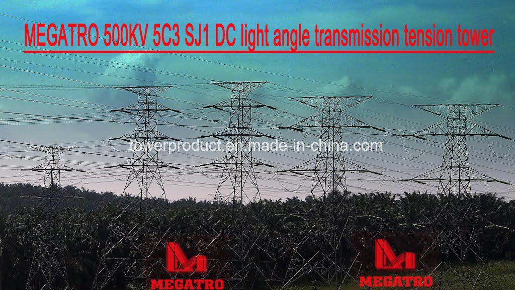 Megatro 500kv 5c3 Sj1 DC Light Angle Transmission Tension Tower