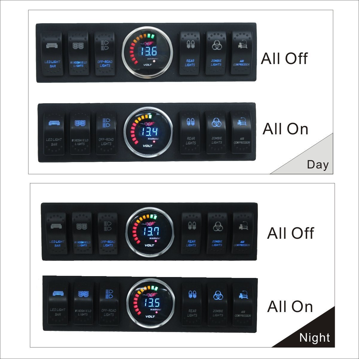 China 6 Switch Electronic Relay System Module Pod Panel Power Up To Jeep Tj Light Bar Wiring Accessories And Led Off Road Bars Fit For 2009 2016 Wrangler Jk Jku