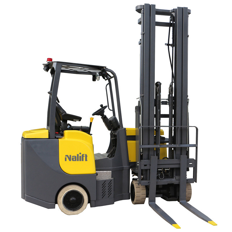 China Warehouse Small Electric Forklift Narrow Aisle Forklift