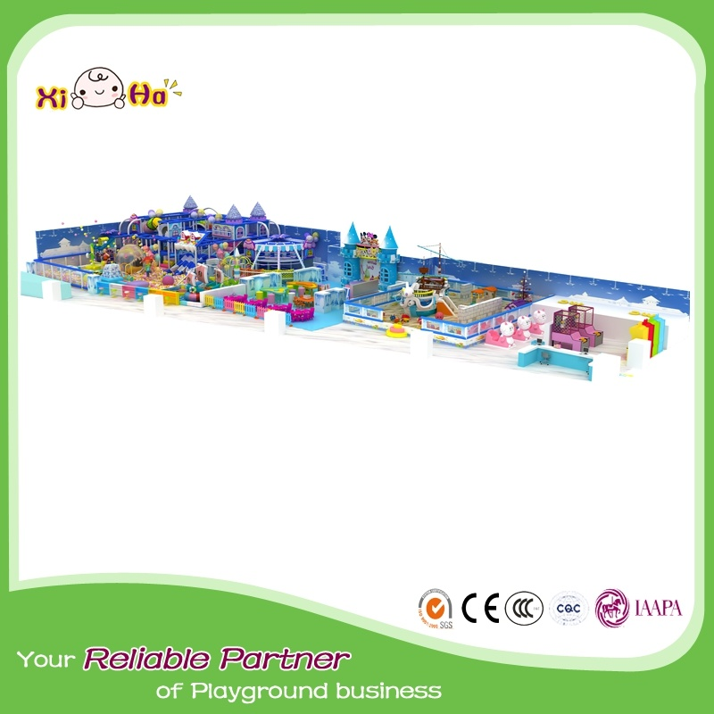 China Ecofriendly Material Castle Design Indoor Playground For Kids