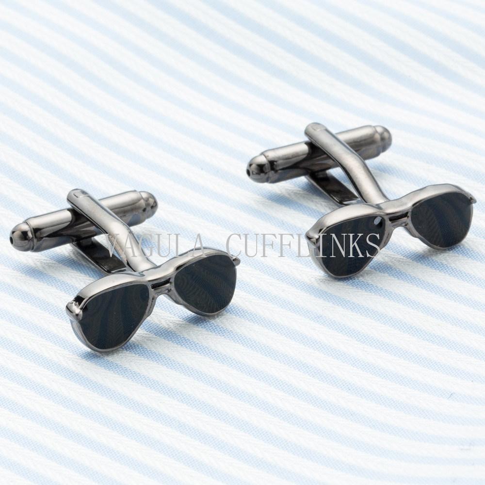 China Vagula Wedding Gift Cuff Links Funny Sunglasses Cufflinks