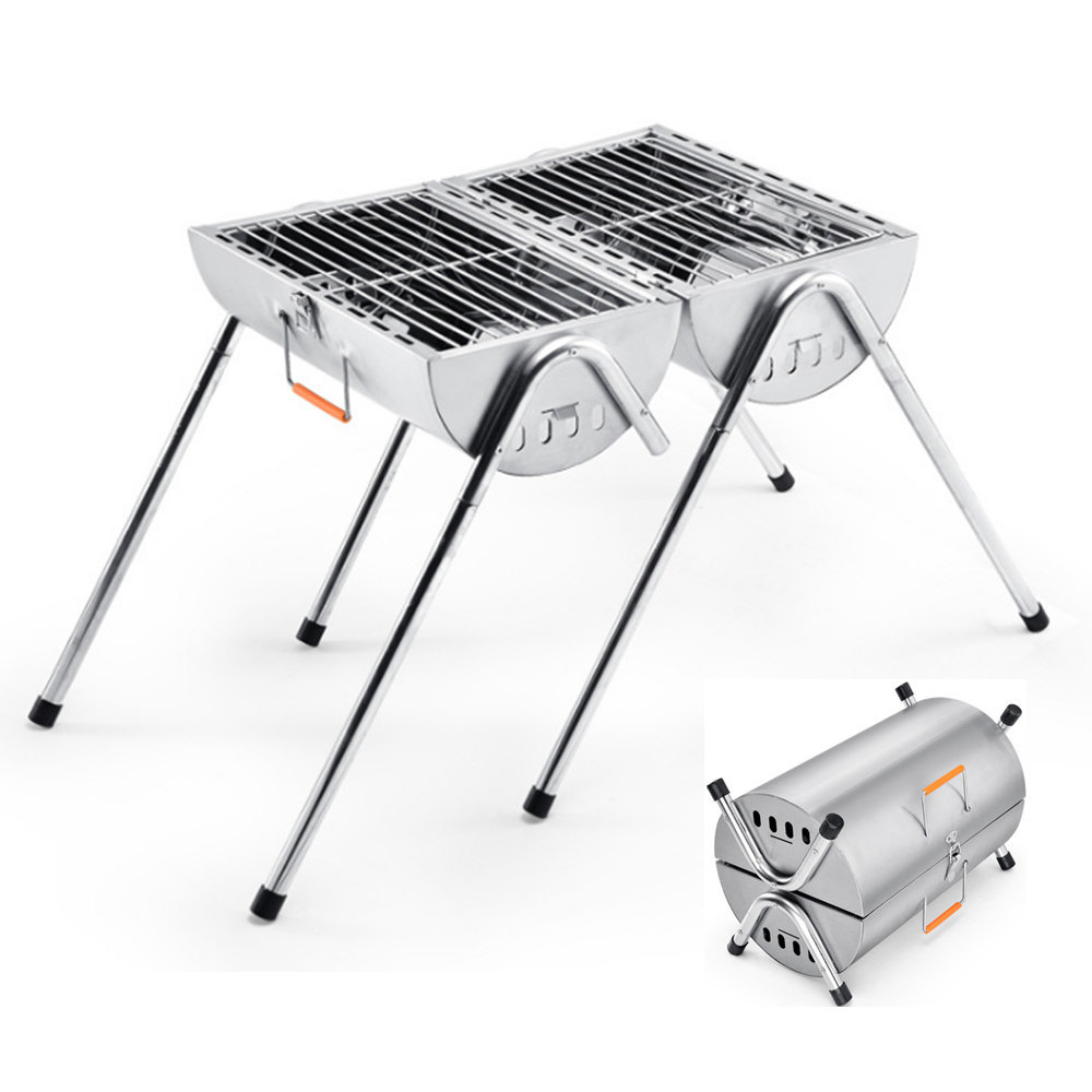 China 2017 Factory New Design Two Burner Charcoal BBQ Barbecue ...