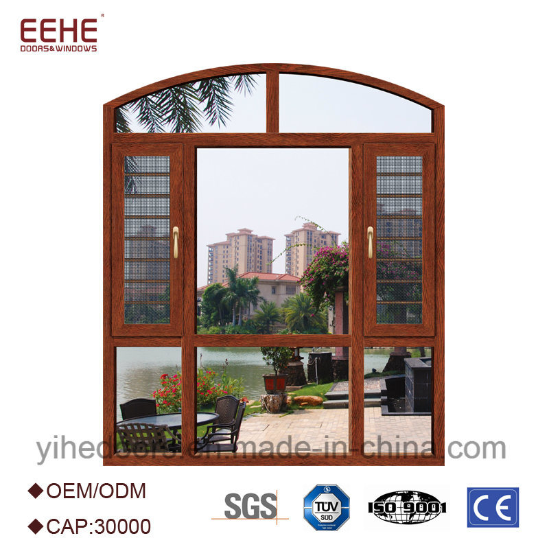 China Commercial Aluminum Window Frames Tempered Glass Window Price ...
