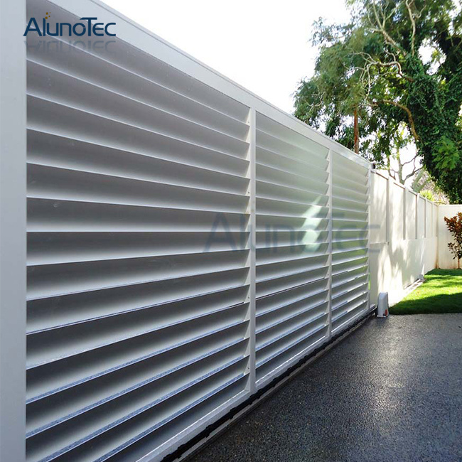China Pre Fabricated Aluminum Louver Fence Aluminium Slat