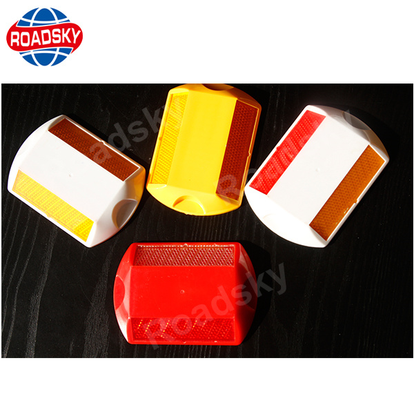 Plastic Single Side Glass Road Stud Road Marker with Cateye