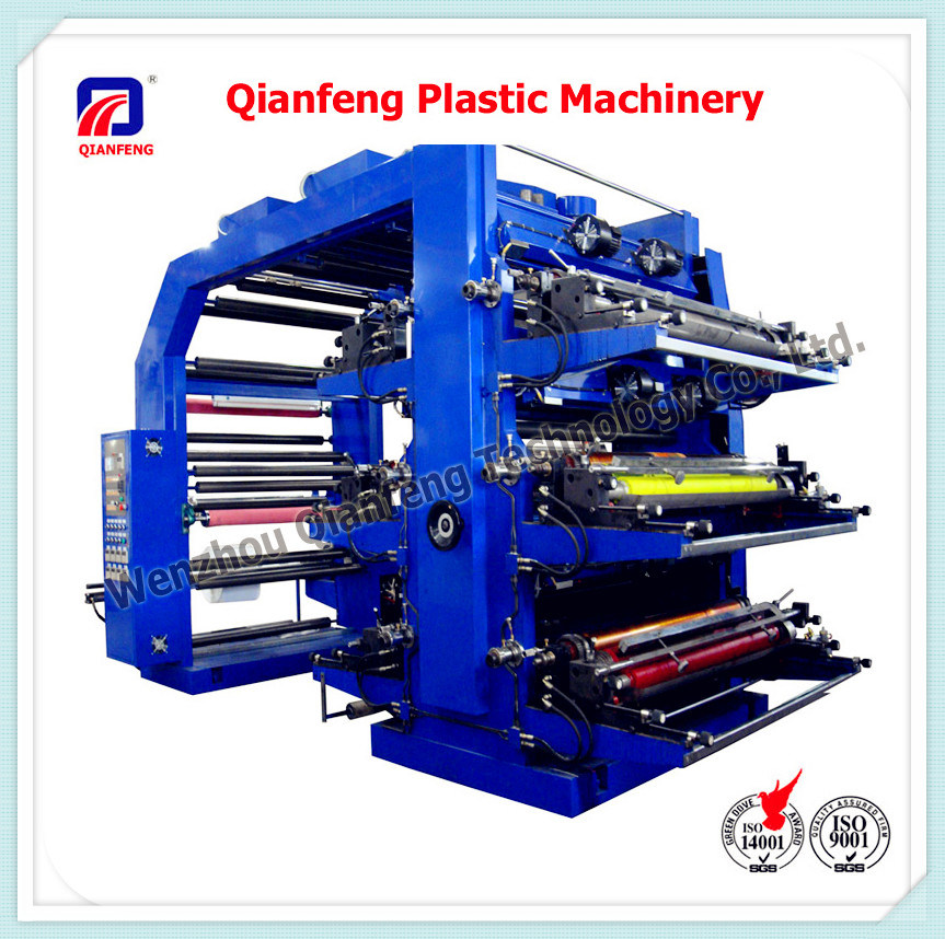 6 Color Plastic Label Flexographic/Flexo Printer Printing Press