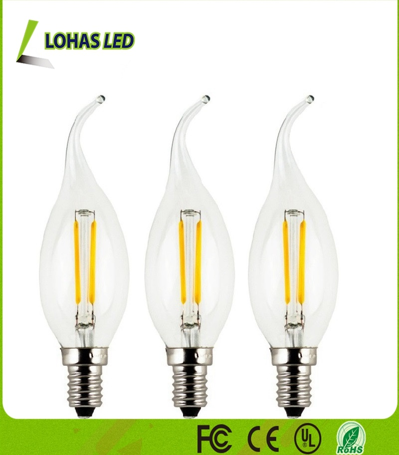 Lighting Lamp Candelabra E12 E14 3W 4W LED Filament Candle Bulb Light pictures & photos