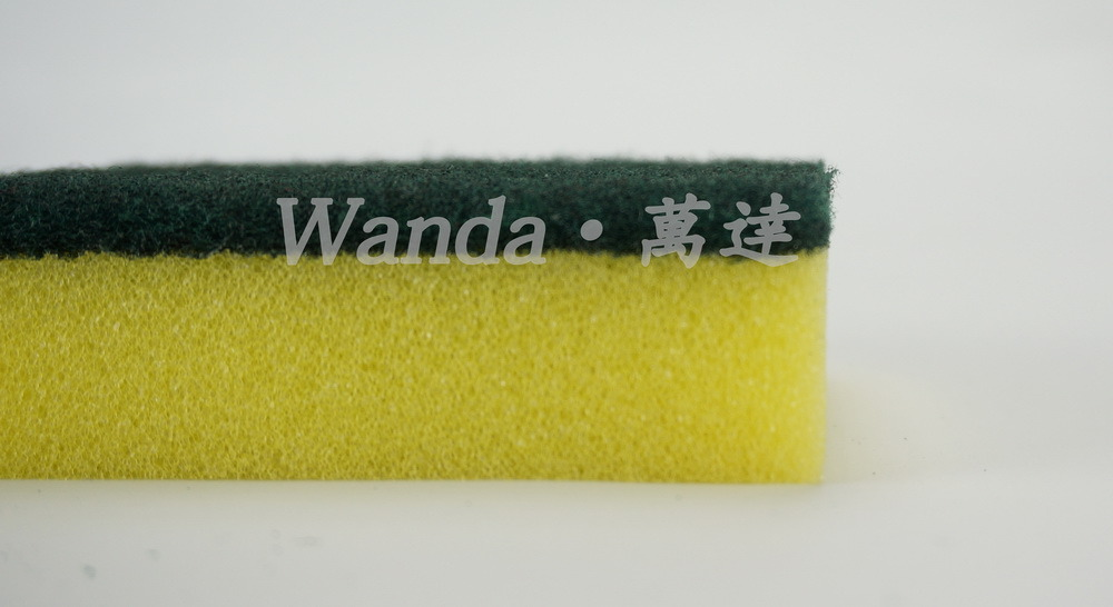 Kitchen Cleaning Polyurethane Sponge Scrubber Scrub Pad for Washing Dishes pictures & photos