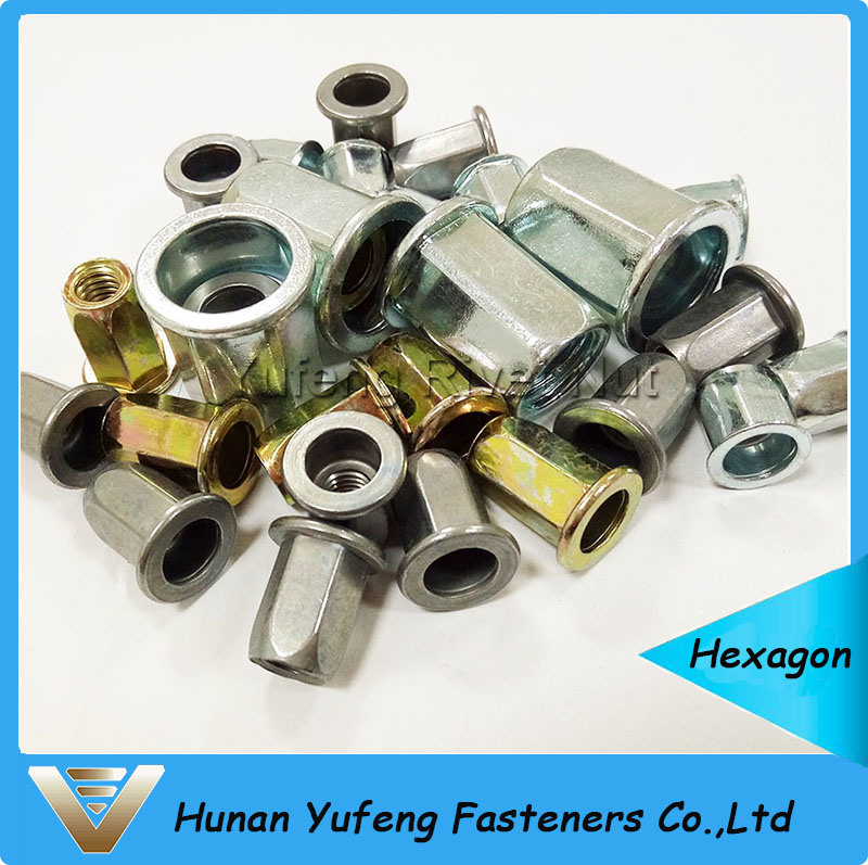 Flat Head Full Hexagonal Body Rivet Nut