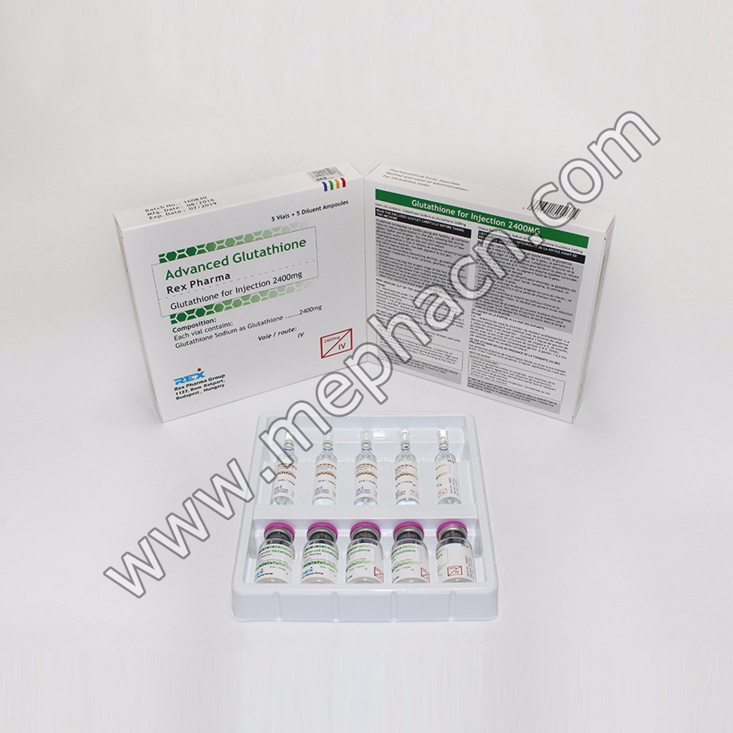Glutathione for Skin Whitening Gsh 1500mg 2400mg 3000mg