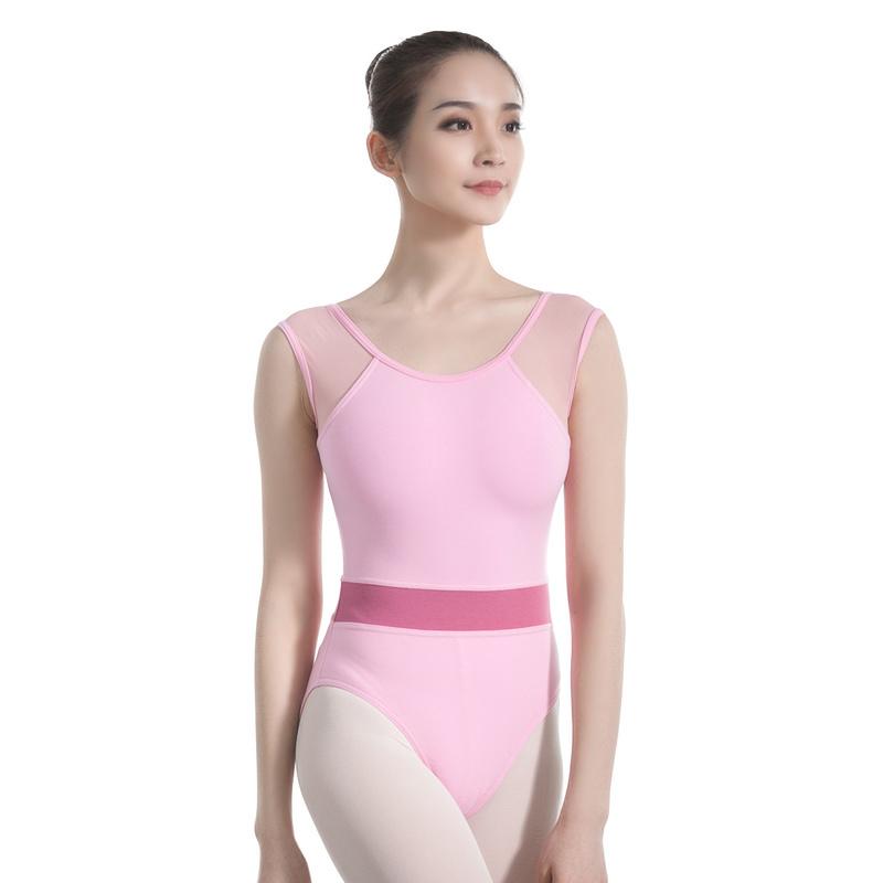 a1f0ad0935f5bf China Leotard Women Dance Leotard Mesh Tank Ballet Leotard Red Belt  Gymnastics Leotards Adult Dancewear Swimsuit - China Girls Dress