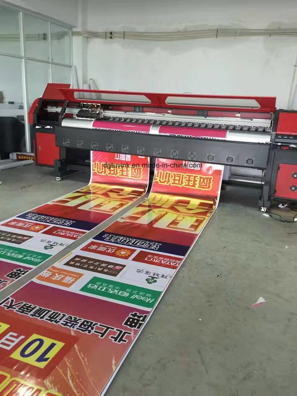 China 126inch wide format solvent digital advertising printing machine 4pcs 512i konica printhead flex banner vinyl sticker printer printer china