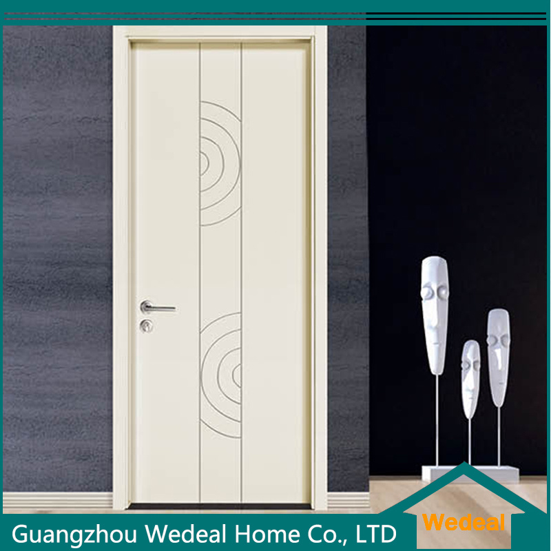 China Modern Solid Wooden Flush Lacquer Painting Doors China Solid