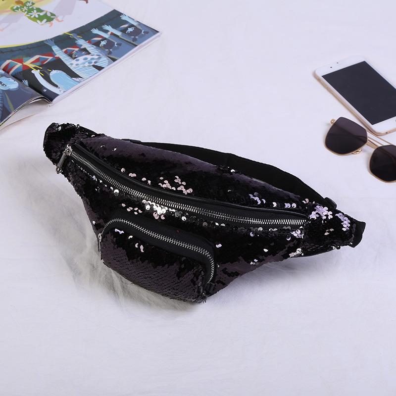 9d4080cf6aa Women Sequin Fanny Pack Fashion Female Waist Bag 2019 New Chest Pouch  Shoulder Bag Glitter Bum Belts Bags Waist Packs