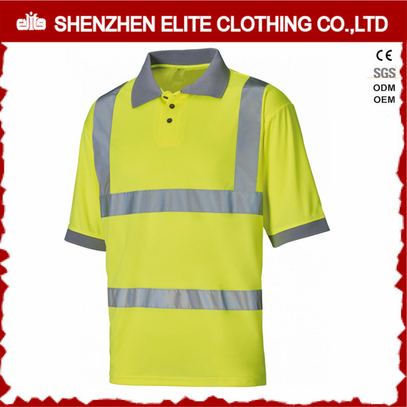 China Wholesale Cheap Work Uniform Summer Safety Polo Shirt Eltspsi