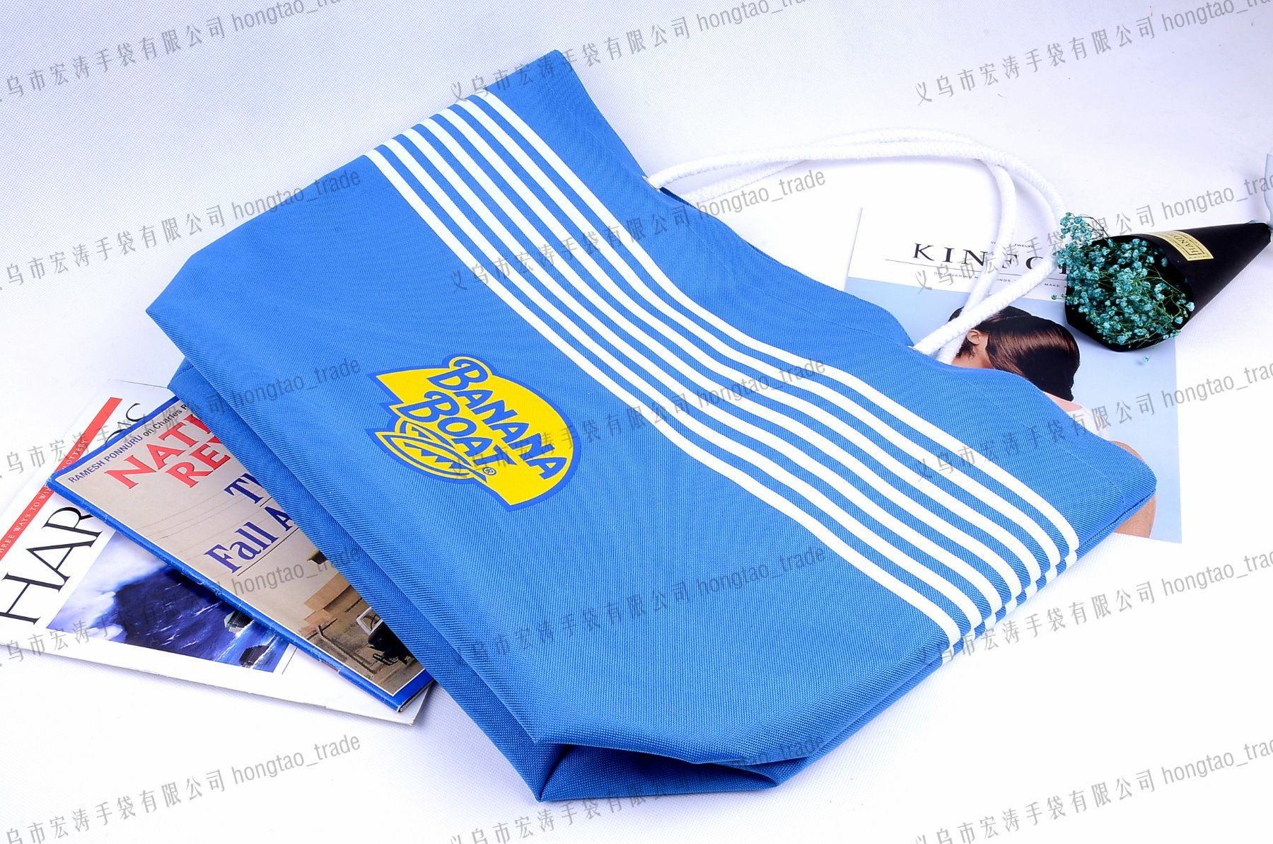 600d Screen Printing Convergent Top Beach Tote Bag pictures & photos