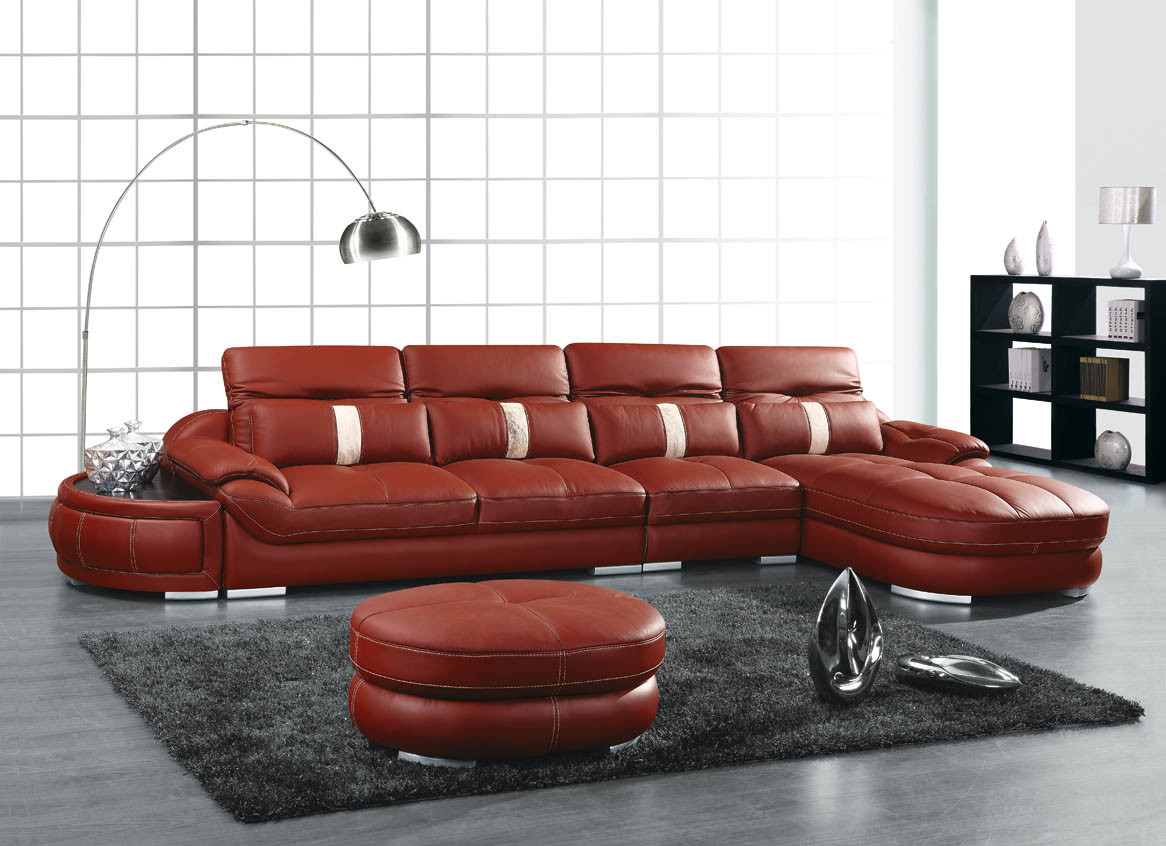 China Elegant Sectional Cow Leather Sofa 1068 China
