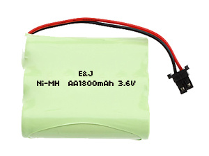 Rechargeable NiMH Battery Pack 36V AA 1800mAh