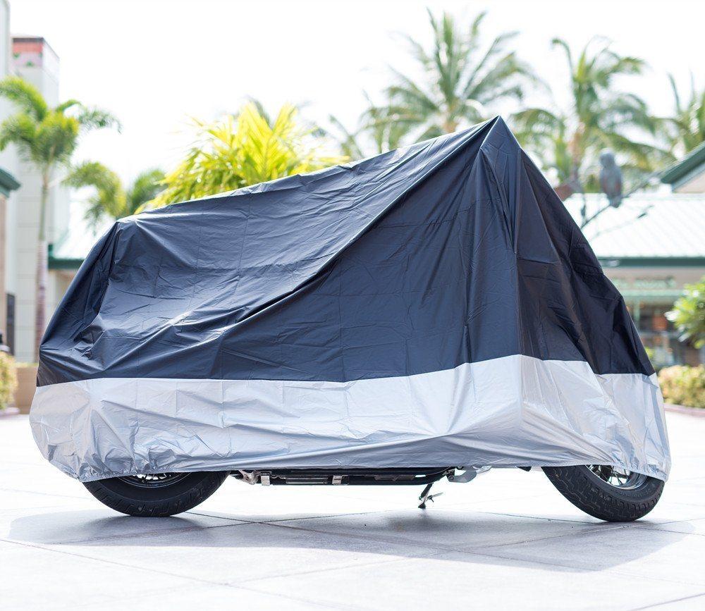 Honda Motorcycle Cover Waterproof Motorbike Cover Fits Up To 108 Motors For Harley Motorcycle Rain Cover XX-Large, Lockholes Suzuki Yamaha
