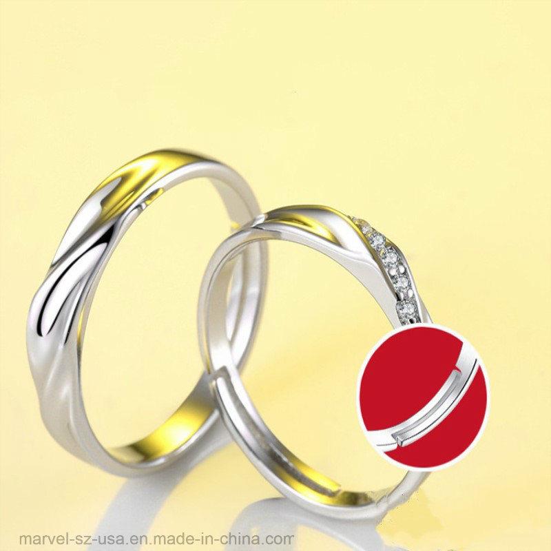 Yandam Christmas Birthday Gift Custom Name and Birthstone Ring Couple Ring