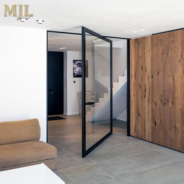 Hot Item Aluminium Residential Pivot Entrance Doors For Front Door