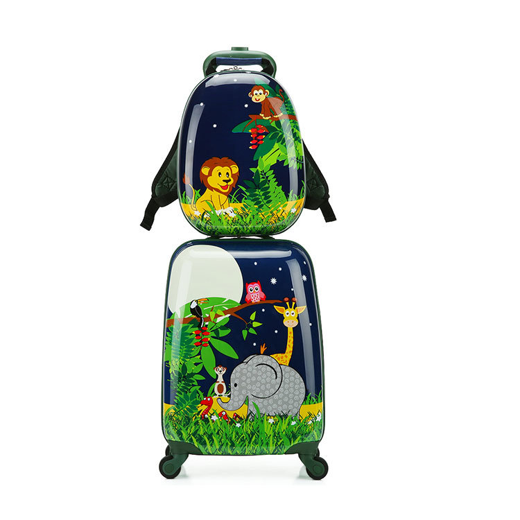 824688ea9903 [Hot Item] Cheap Luggage Sets Square Shape Luggage Trolley Suitcase with  Backpack Bag
