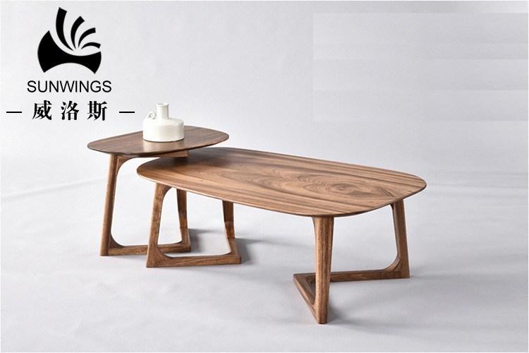 China Modern Simply Style Modern Tea Solid Wood Oval Shape Coffee Table Furniture China Wood Coffee Table Tea Table