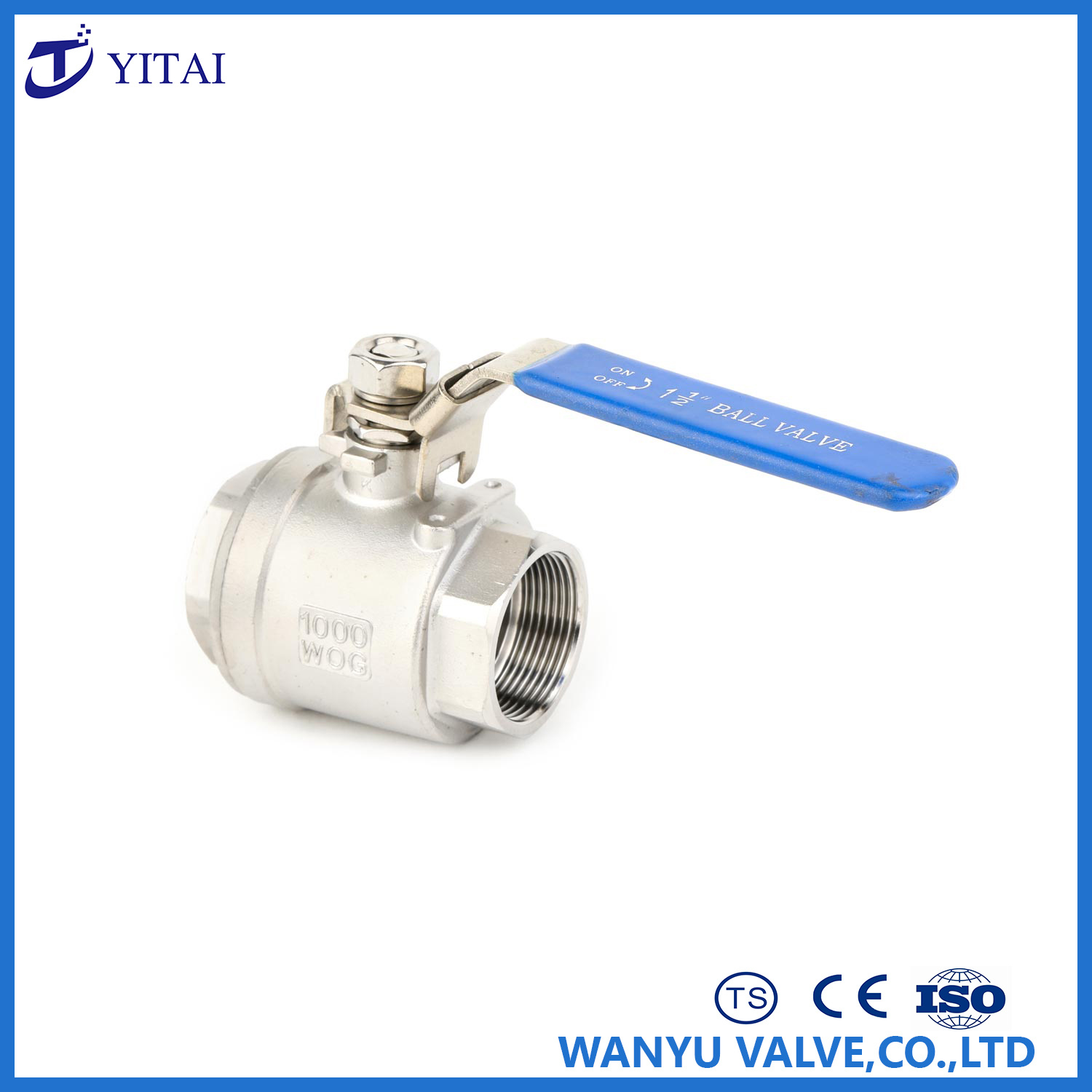 Full Port Stainless Steel Floating 2PC Thread Ball Valve (1000psi) with Lock pictures & photos
