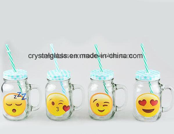 China Stock Glass Mason Jars Bulk 16oz Mason Jars with Handles