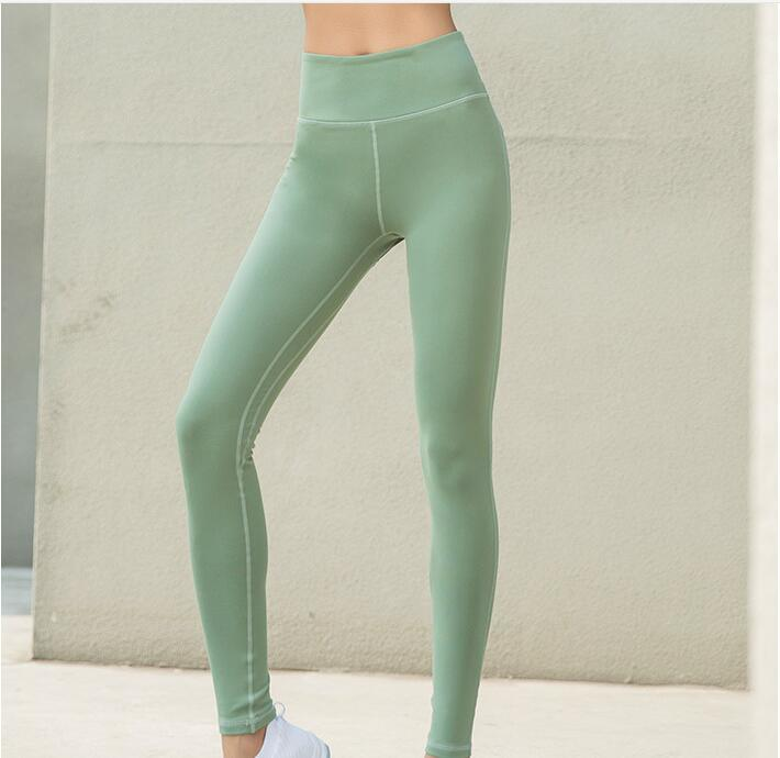 6762f847727f0 High Waisted Leggings Fitness Yoga Wear Cropped Gym Tights Women Elastane  Gym Yoga Pants