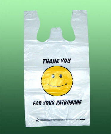 HDPE Customized Printing Plastic T-Shirt Bag pictures & photos