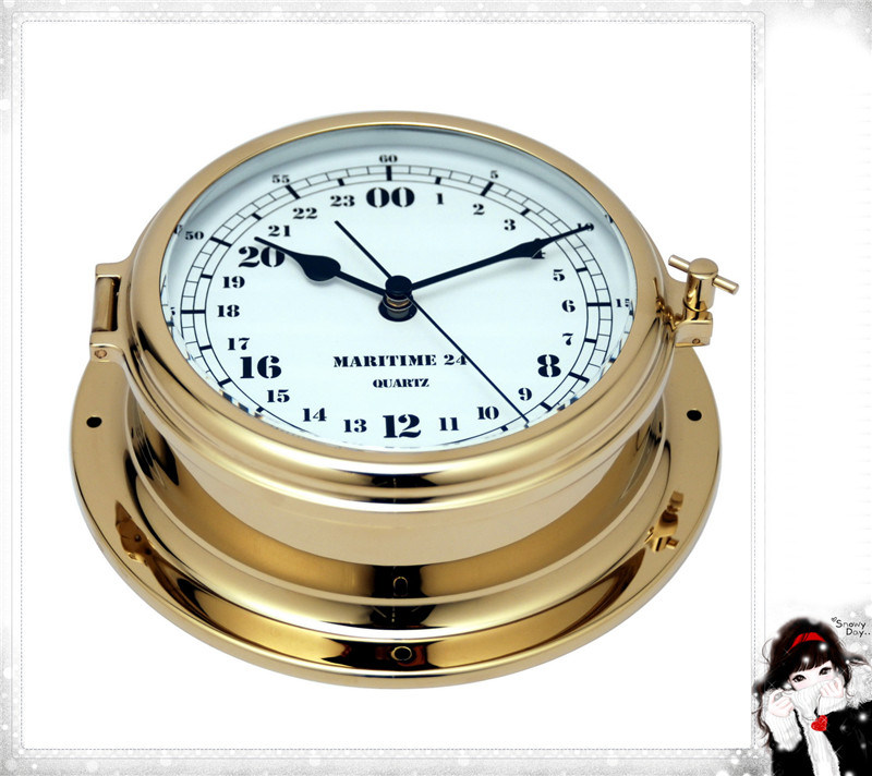 Military Time Clock >> Hot Item Nautical Military Time Clock 24 Hour Brass Case Dial 180mm