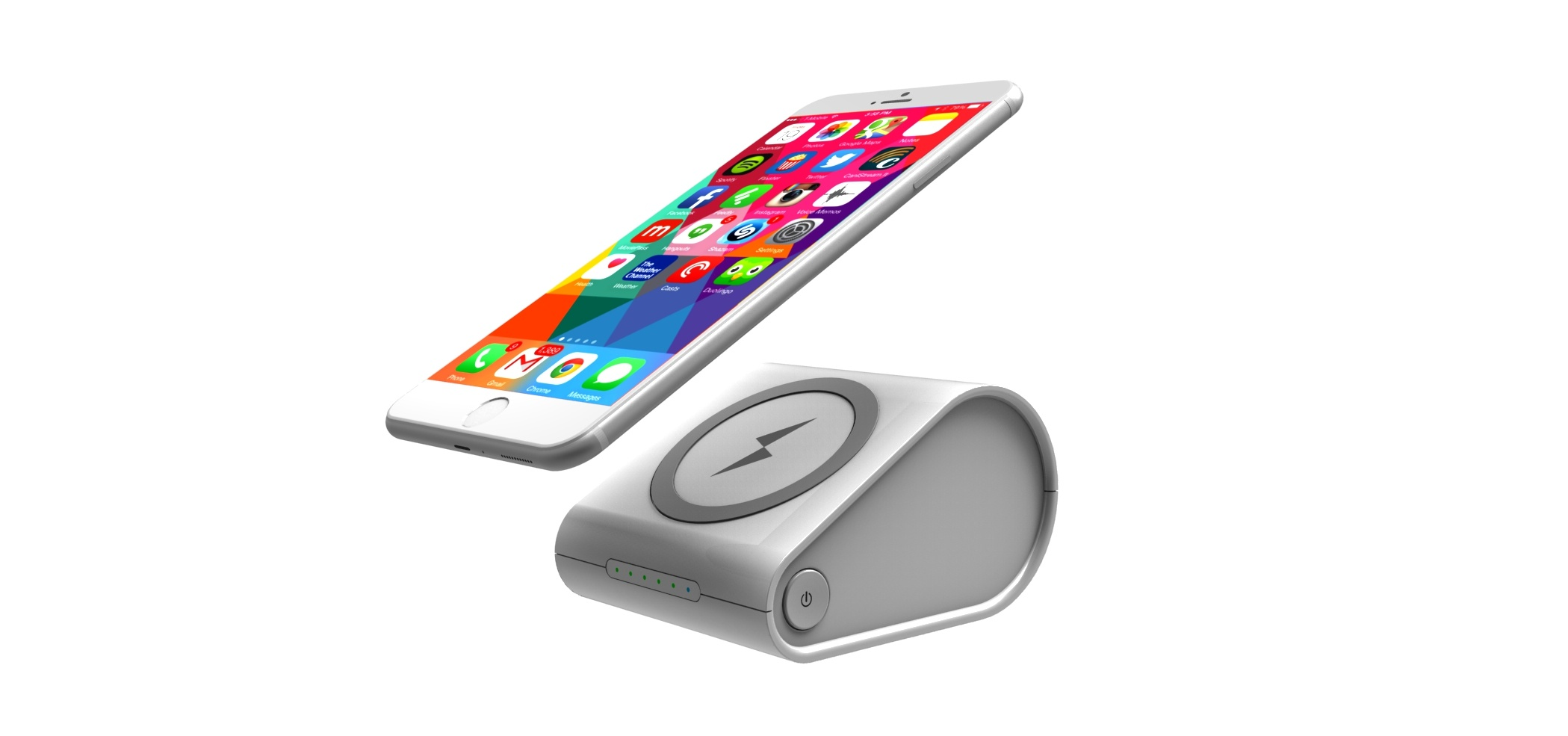 Hot Portable Wireless Power Bank with Big Capacity in Qi Stardad
