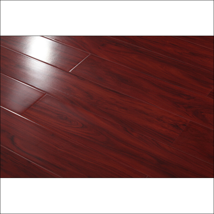 China Red Color High Gloss Laminate Flooring With U Groove V