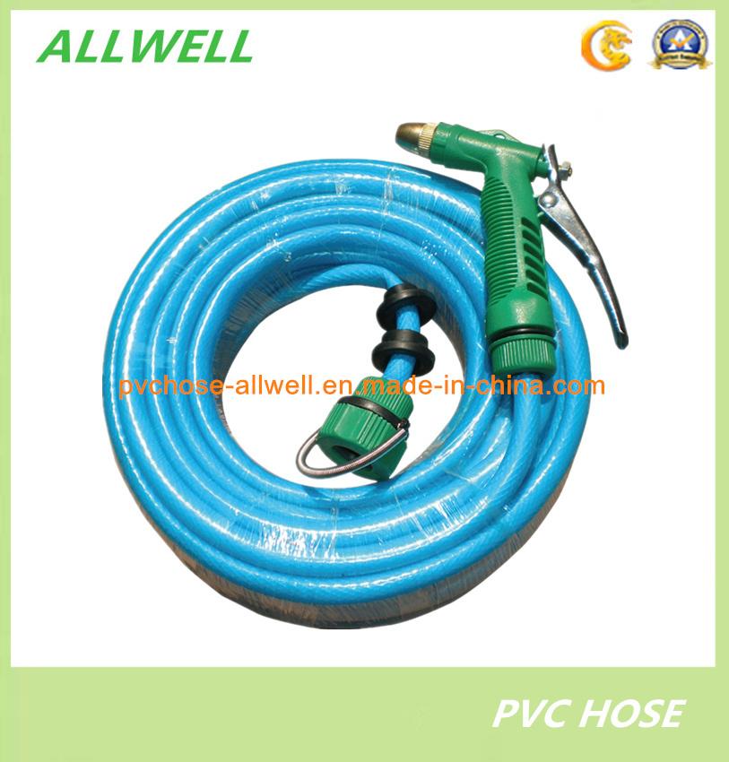 China PVC Flexible Fiber Braided Car-Washing Hose Pipe with Spray ...