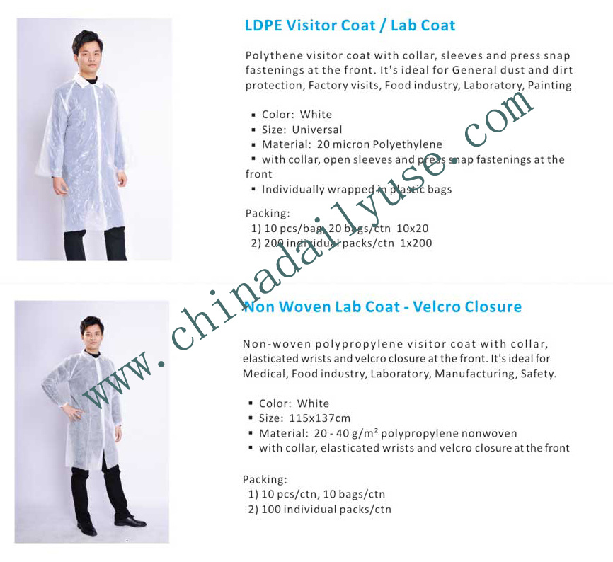 China Fashion Design White Disposable Medical Lab Coat China Lab Coat Medical Lab Coat