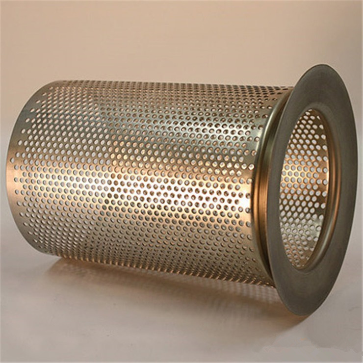 China Stainless Steel Filter Wire Mesh Screen Round Hole Perforated Metal Cylinders Cylinder