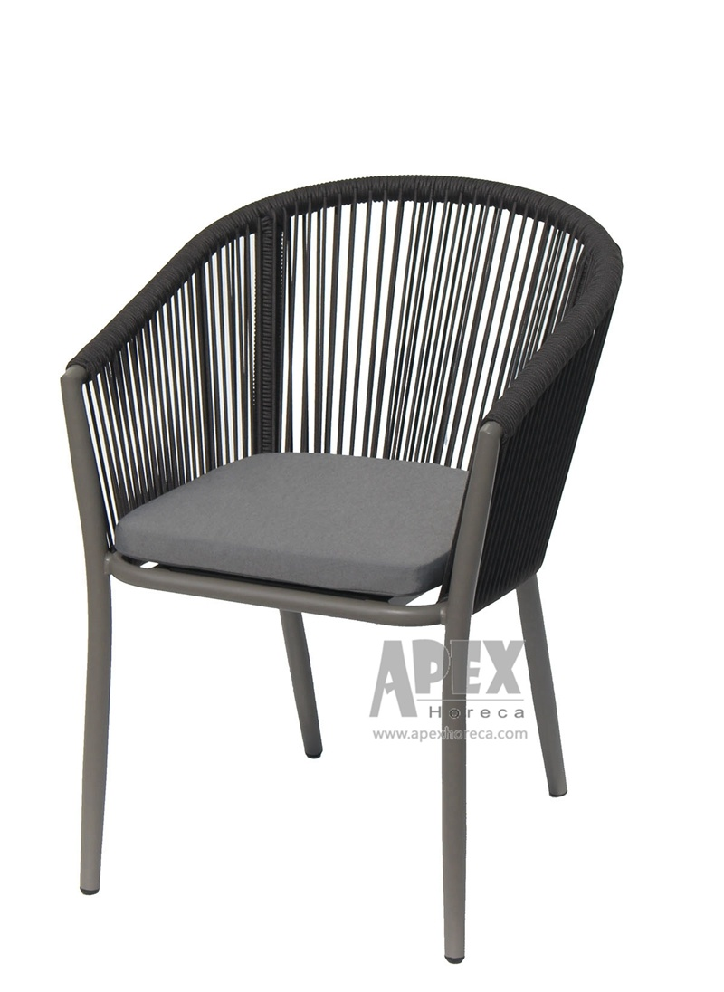 [Hot Item] Florence Cafe Chair Outdoor Furniture Aluminum Rattan Dining  Chair