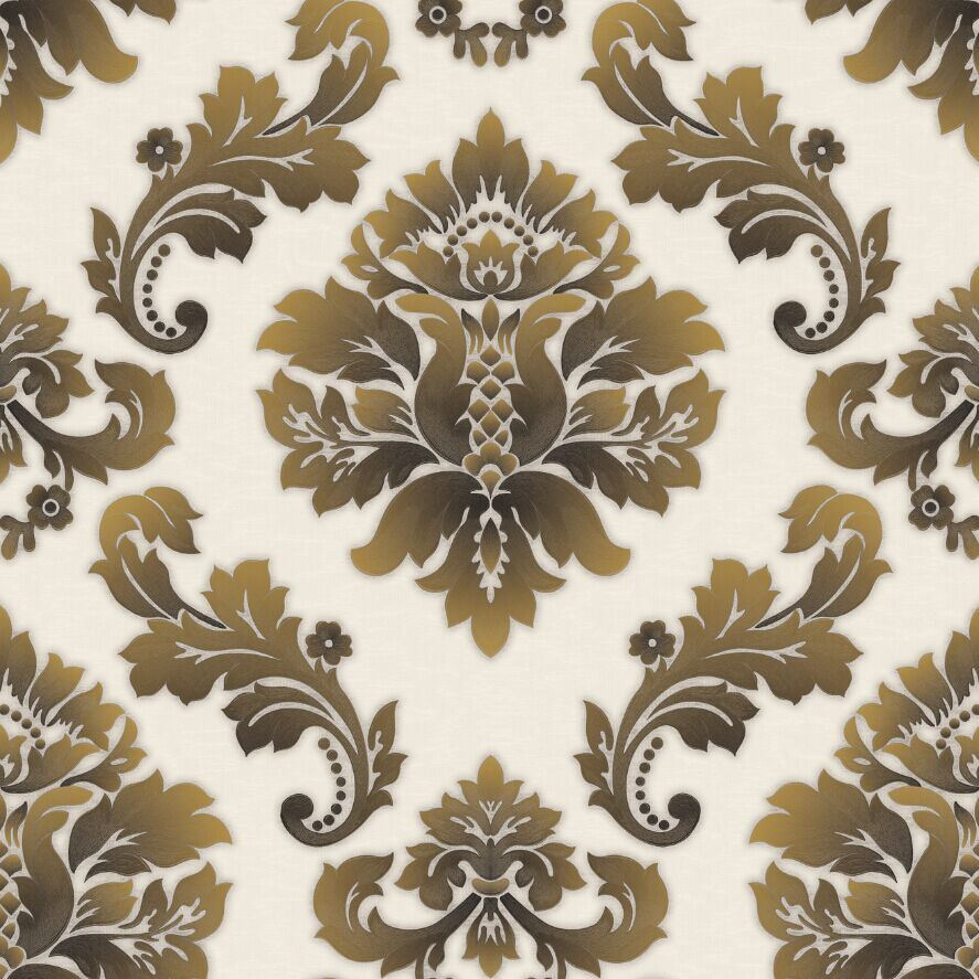 china cheap price italian damask design big flower wallpaper for