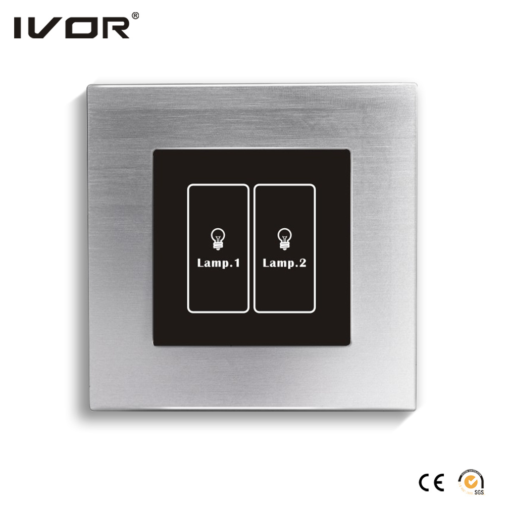 Networking Lighting Switch Touch Panel with Scene Control Aluminum Alloy Frame (HR1000-AL-S-CAN)