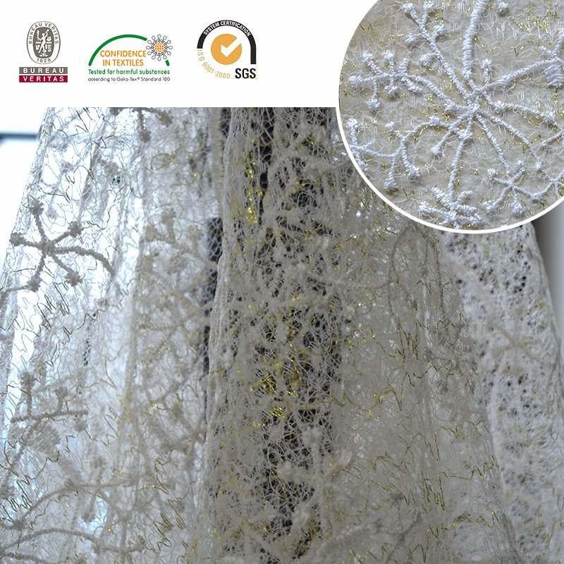 Snow Design Mesh Lace Embroidery Fabric Lace pictures & photos