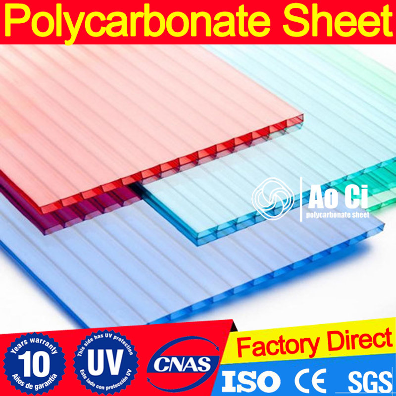 China Frosted Colored Polycarbonate PC Shiny Hollow Sheet - China ...
