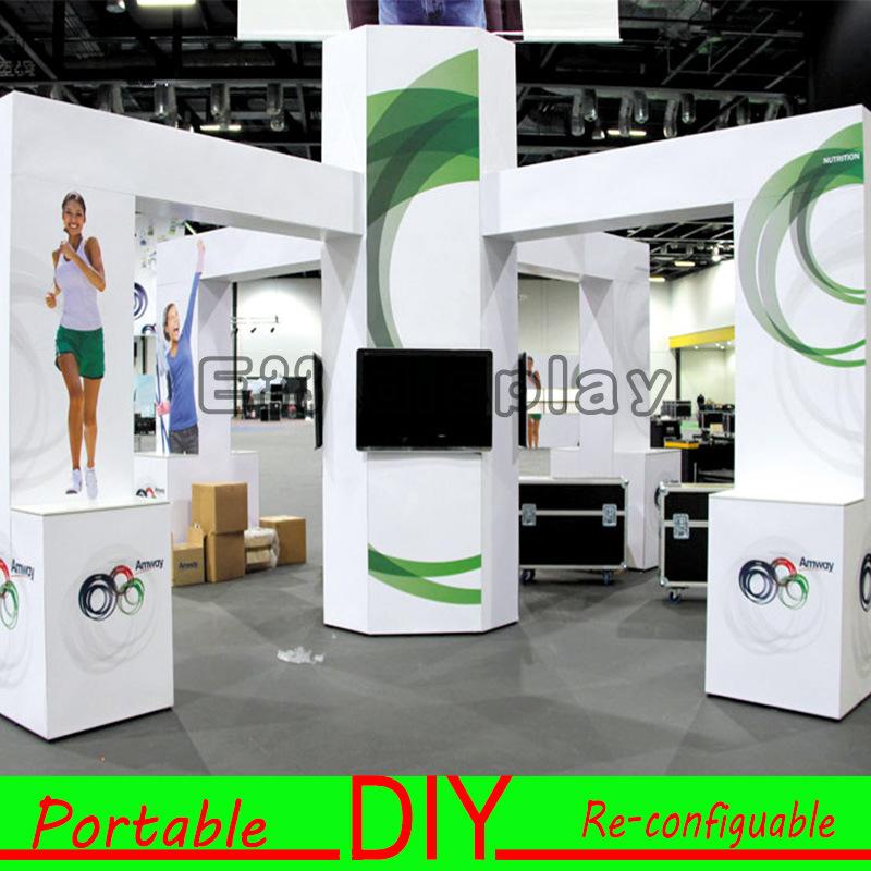 Exhibition Booth Stand : Custom made reconfiguration portable modular reusable standard