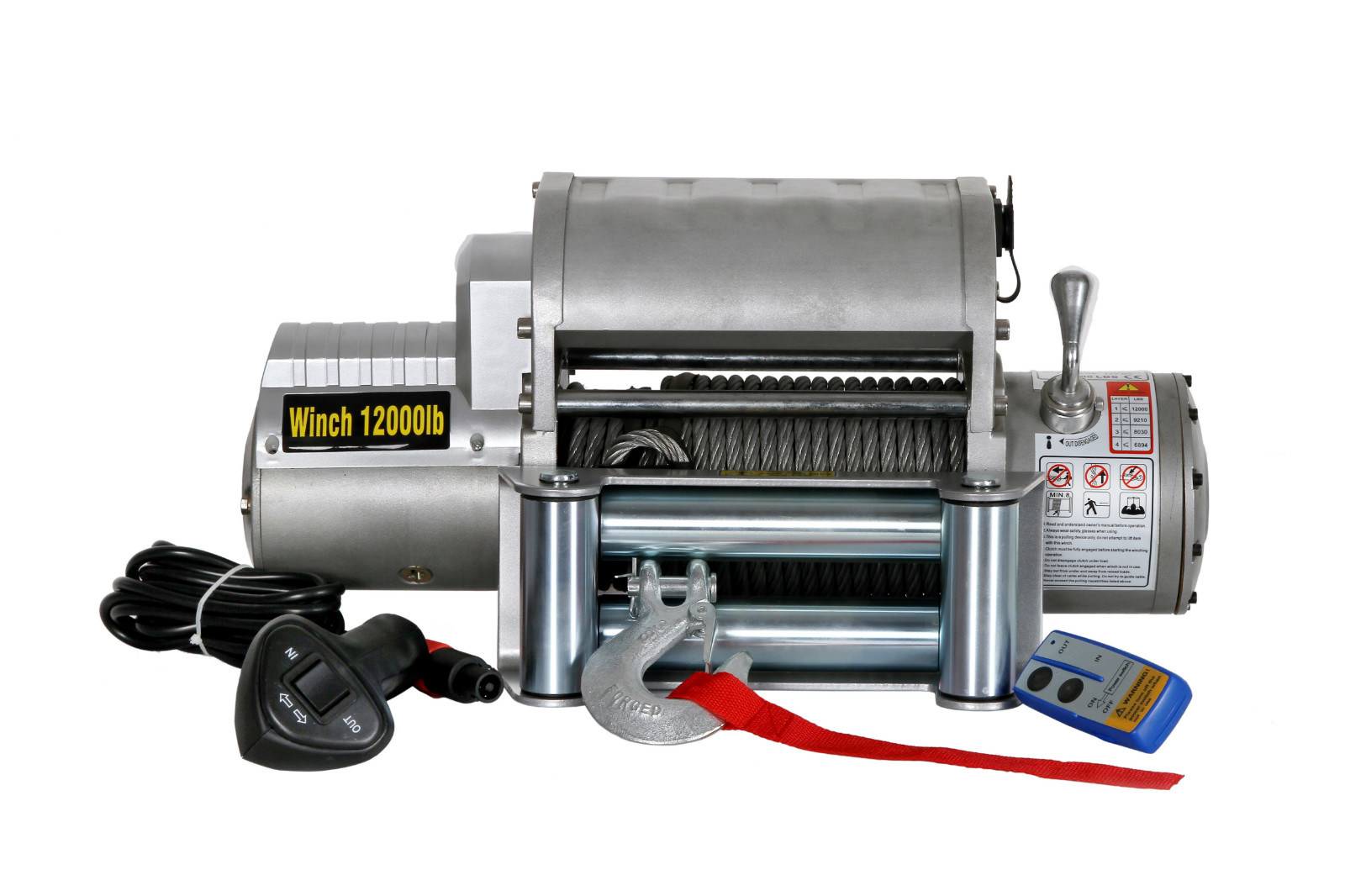 Recovery Truck Winch 12000lbs Wireless with 12VDC CE Approved