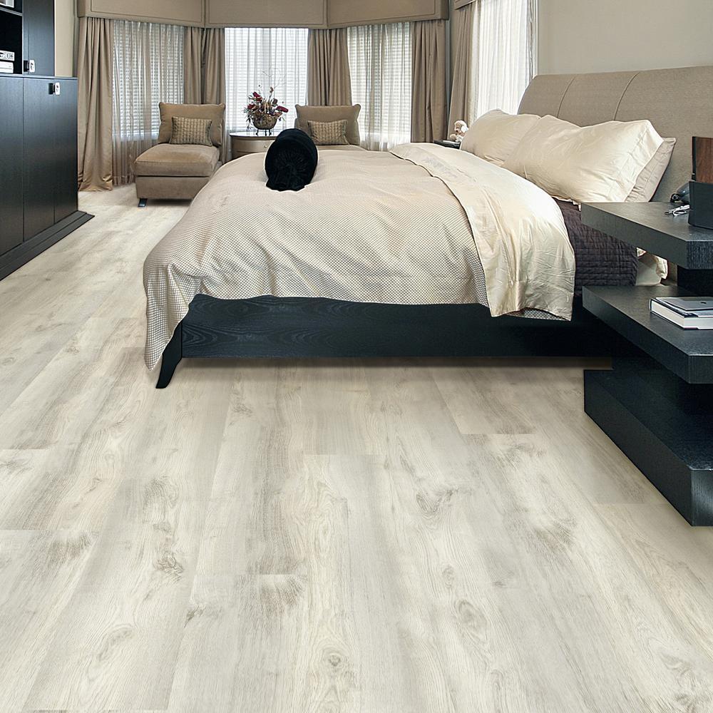 China White Floating Vinyl Plank, White Vinyl Laminate Flooring