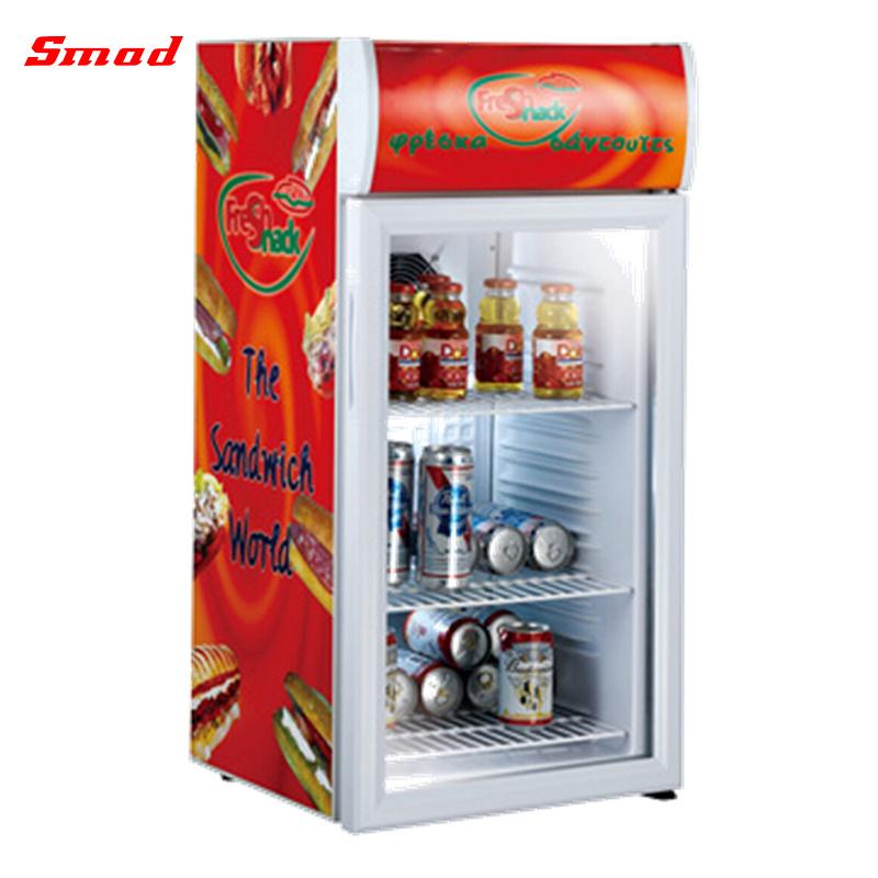 Desktop Mini Glass Door Beverage Cooler Display Refrigerator