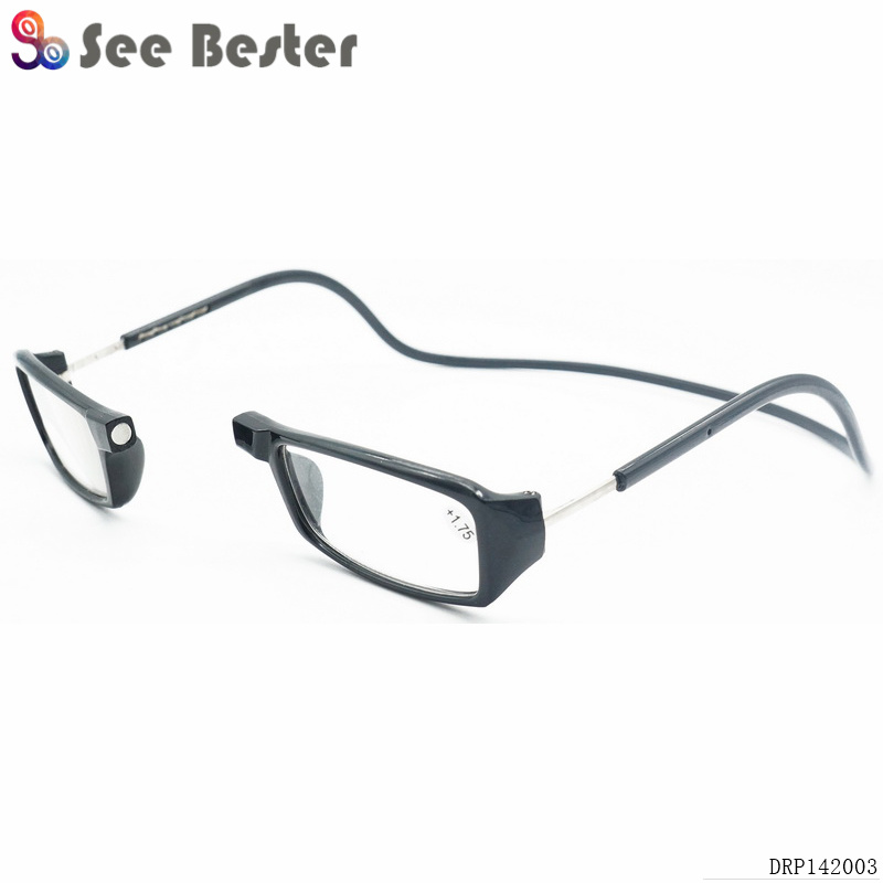b930065229b Adjustable Front Connect Reader Fashion Hot Clic Long Temple Hang Neck  Magnet Reading Glasses Wholesale Magnetic Reading