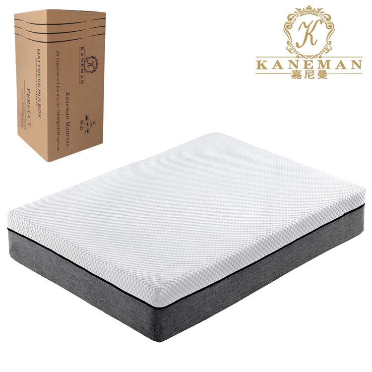 China Bedroom Furniture Luxury Plush Memory Foam Mattress In Box