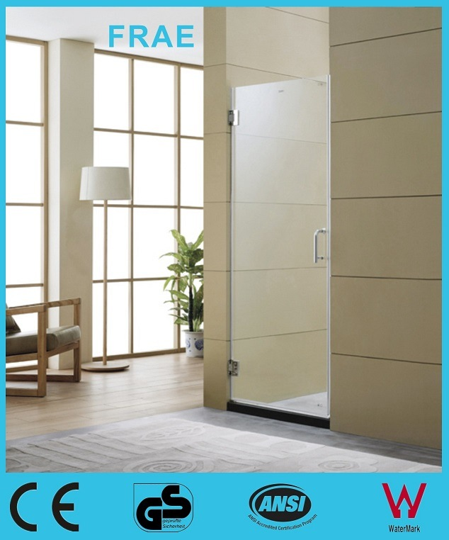 China Single Frameless Hinge Glass Shower Door Panel Shower Cubicle